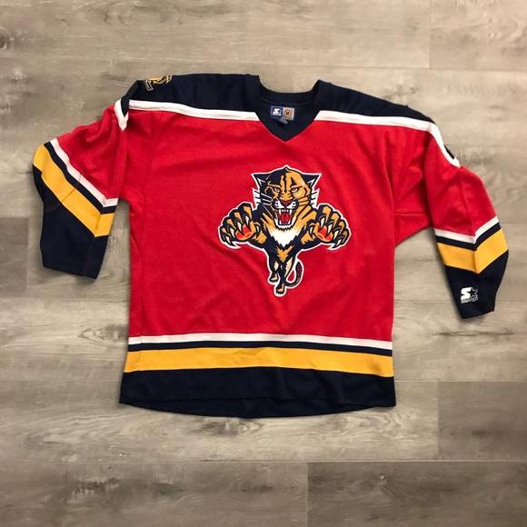 15430e0e367 STARTER Other - Vtg Starter Florida Panthers NHL Hockey Jersey XL